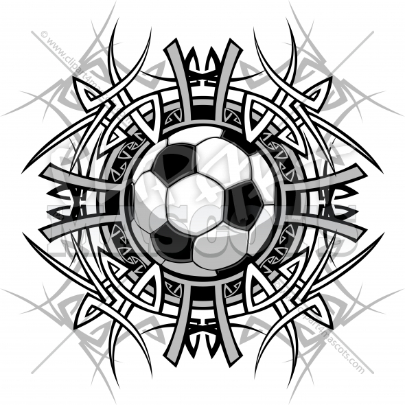 Soccer Tribal Graphic Image