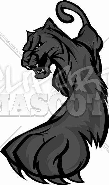 Prowling Panther Mascot Body Vector Illustration