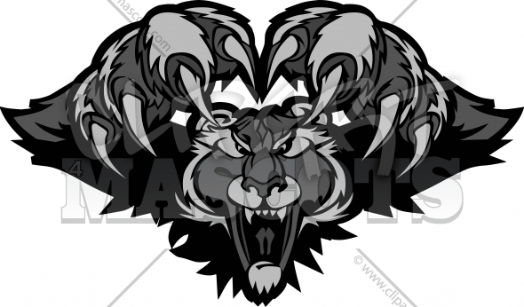 Black Panther Mascot Pouncing Graphic Illustration