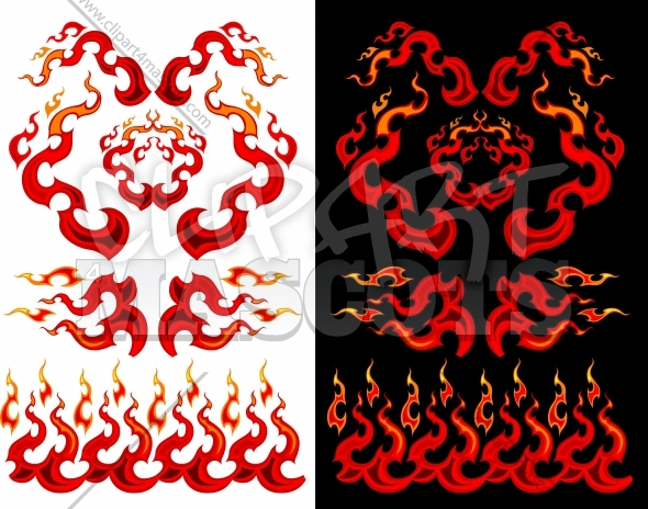 Fire and Flames Vector Graphic Ilustrations