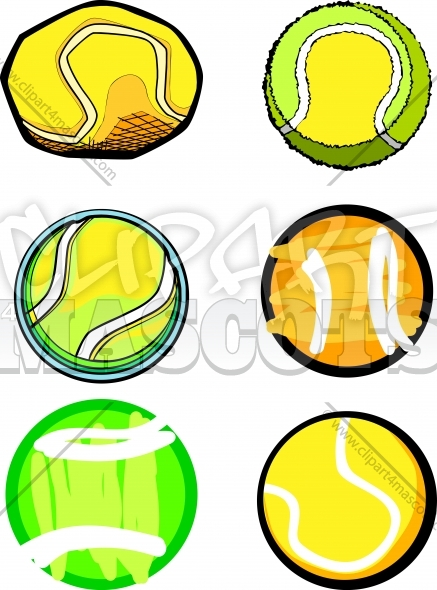 Tennis Ball Vector Images