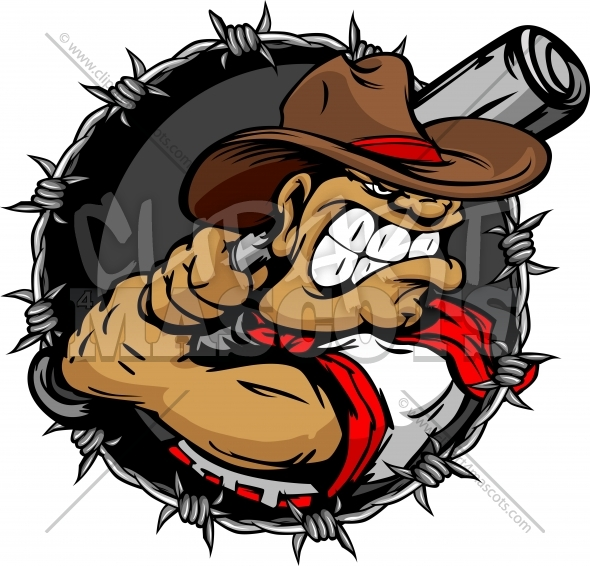 Baseball Outlaw Clipart Cartoon Vector Image