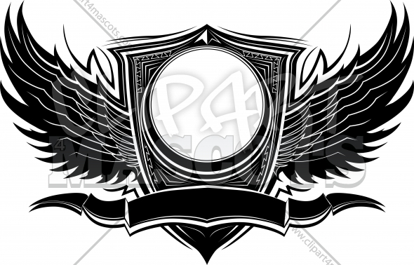 Vector Design Element Wings Clipart Image