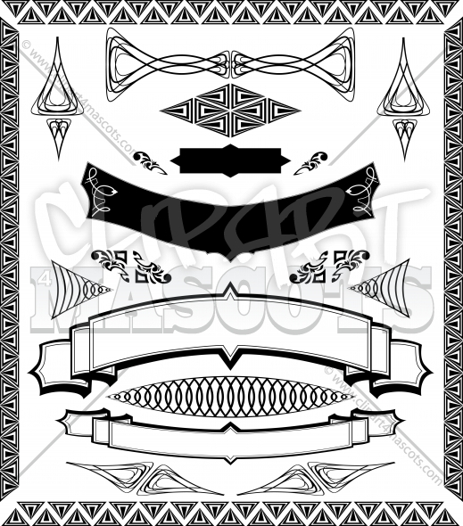 Vector Banner Elements and Ornamental Design Image Collection
