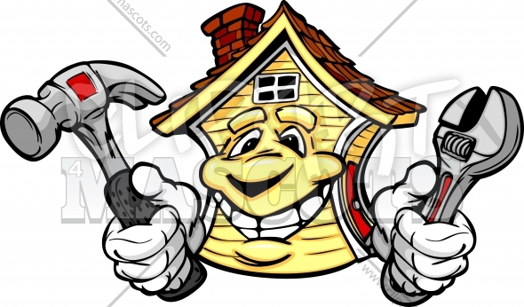 Home Repair Clipart Vector Cartoon