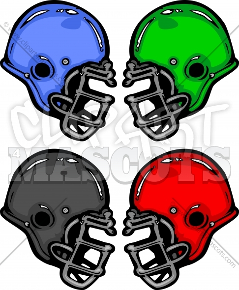 Football Helmet Cartoon Vector Illustration