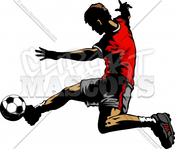 Soccer Player Clipart Silhouette Vector Image