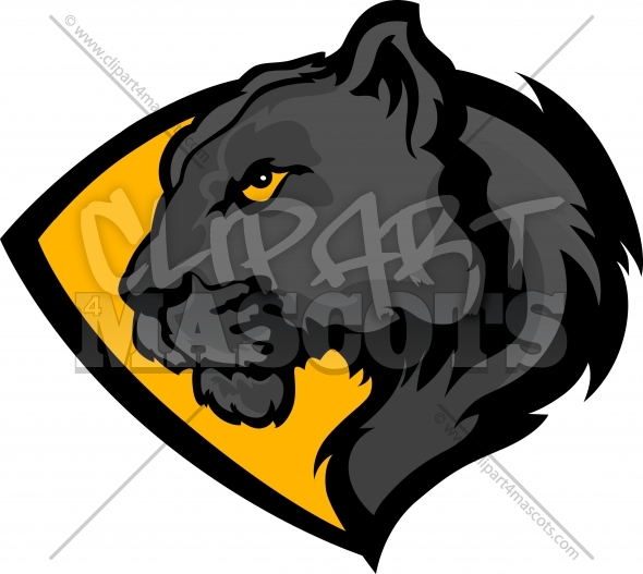 Panther Clipart Logo Vector Image
