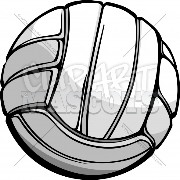 Volleyball Ball Vector Clipart Graphic Image
