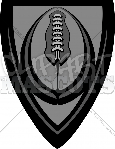 Football Clipart – American Football Logo Graphic Vector Image