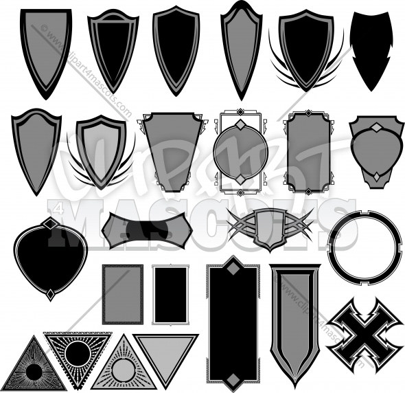Vector Badges Design Elements Clipart Collection