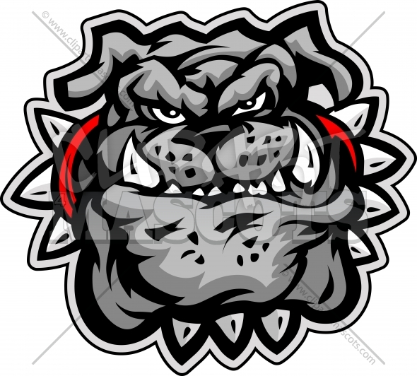 Clipart Bulldog Cartoon Face Vector Image