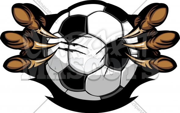 Eagle Soccer Logo Graphic Vector Cartoon