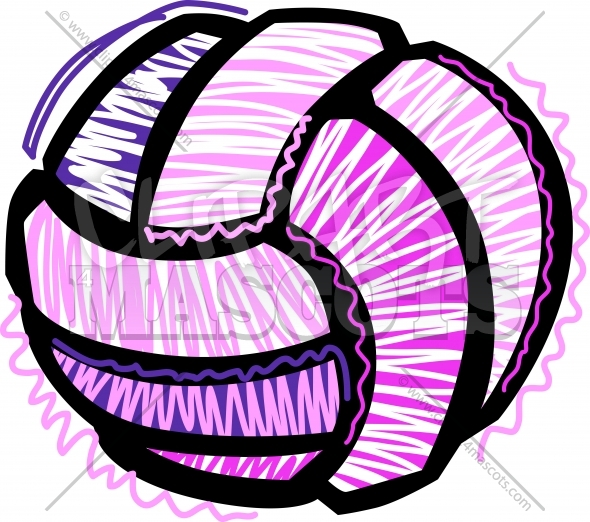 Volleyball Sketch Clipart Vector Image