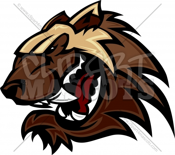 Wolverine Mascot Head Vector Illustration