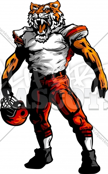Tiger football clipart