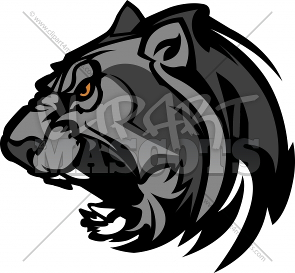 Panther Mascot Head Vector Clipart Image
