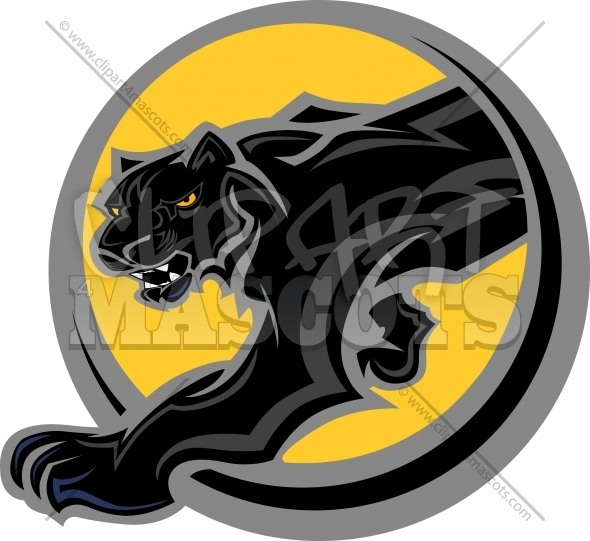 Panther Mascot Body Clipart Vector Image
