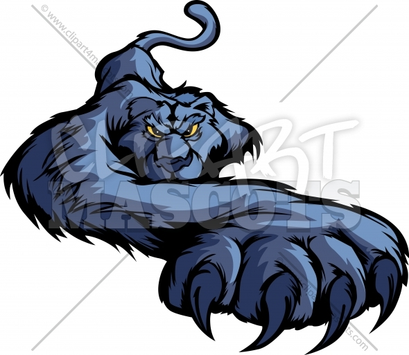 Prowling Panther Mascot Clipart Vector Image