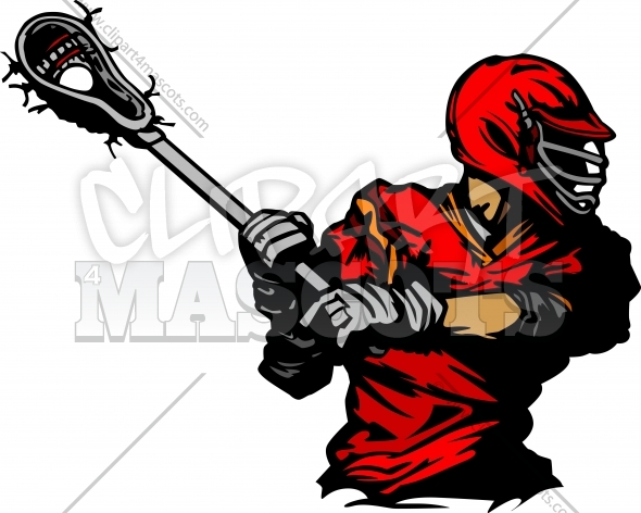 Lacrosse Player Silhouette Vector Clipart Image