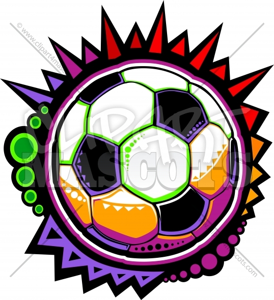 Soccer Ball Clipart Vector Design