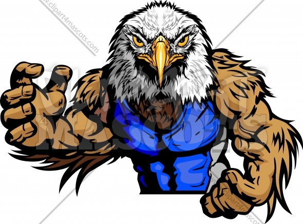 Wrestling Eagle Mascot Graphic Vector Image