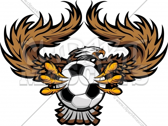 Eagle Soccer Clipart – Soccer Team Vector Mascot Design