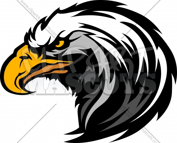 Eagle Head Clipart Graphic Vector Logo