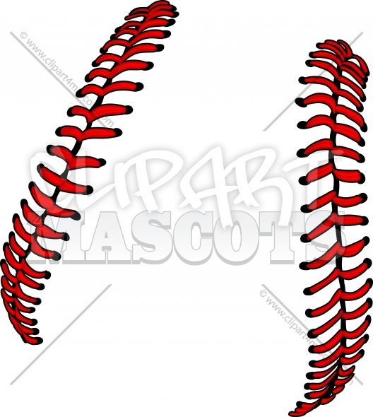 Vector Baseball Laces or Softball Laces Clipart Image