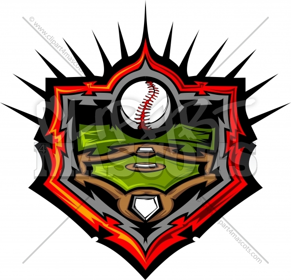 Baseball Field Design Vector Image Template