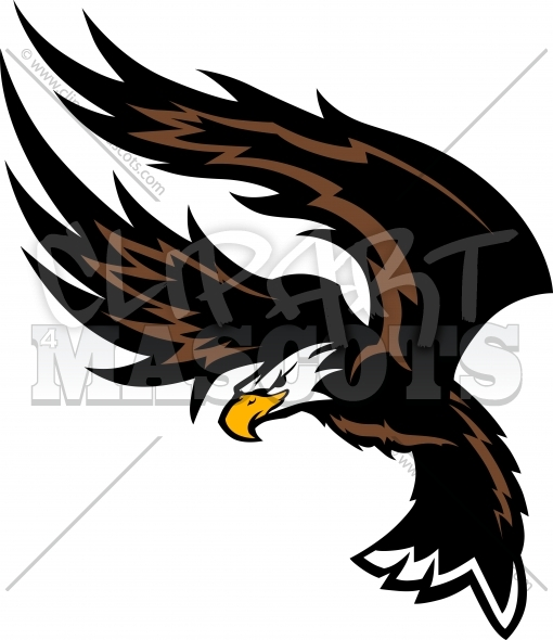 Flying Eagle Clipart Mascot Vector Image