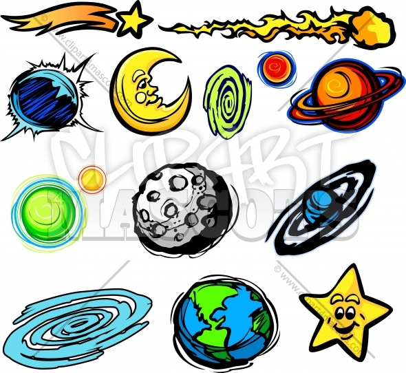 planets and stars clipart - photo #16