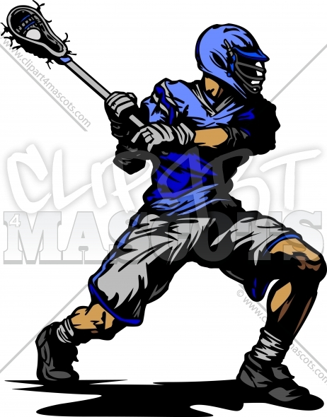 Vector Lacrosse Player Clipart Image
