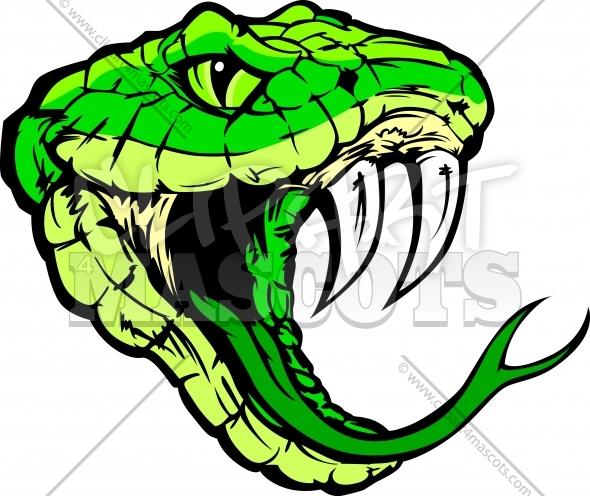 Viper Head Clipart Vector Graphic
