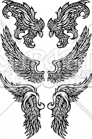 Vector Demon Wings Clipart Images