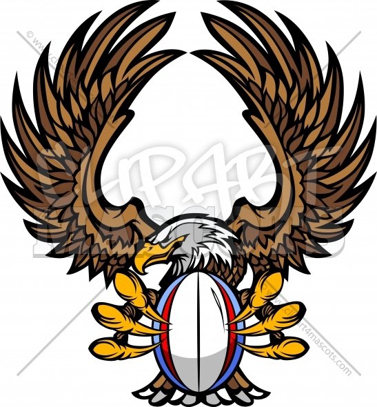 Eagle Rugby with Talons and Claws Vector Illustration