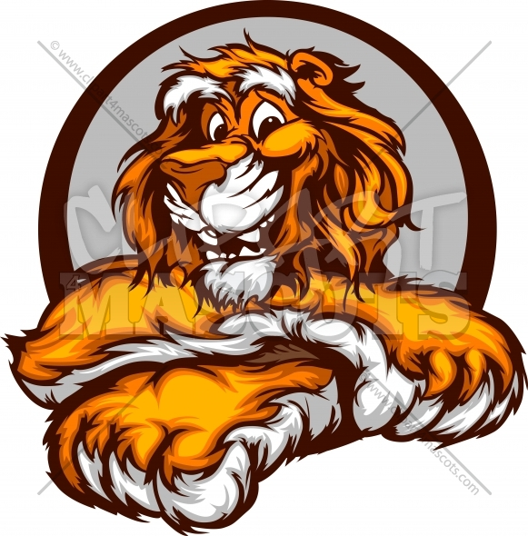 Graphic Vector Image of a Happy Cute Tiger Mascot
