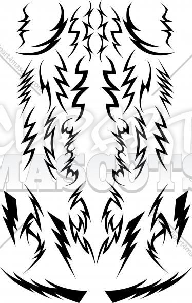 Vector Lightning Bolts Image Collection