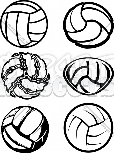Volleyball Ball Vector Image Icons