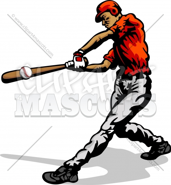 Clipart Baseball Player Vector Silhouette