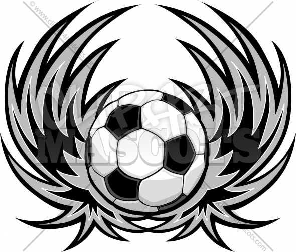 Soccer Wings Logo Vector Design