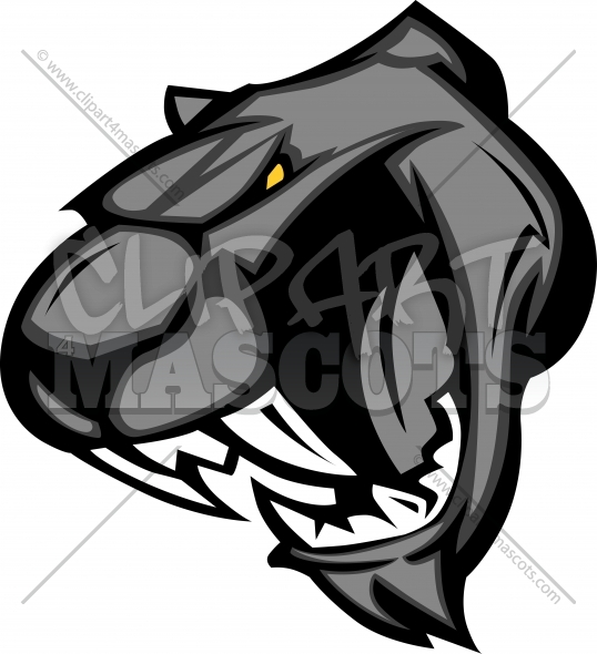 Panther Mascot Clipart Vector Image