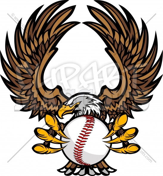 Raptor Baseball Logo Clipart Vector Illustration