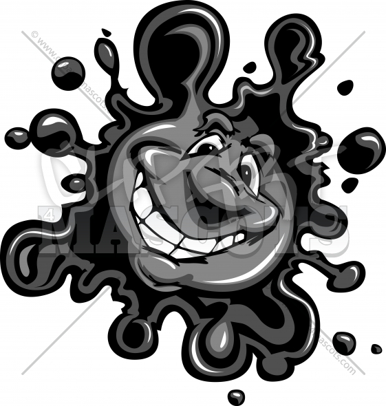Ink Spot Clipart Vector Cartoon