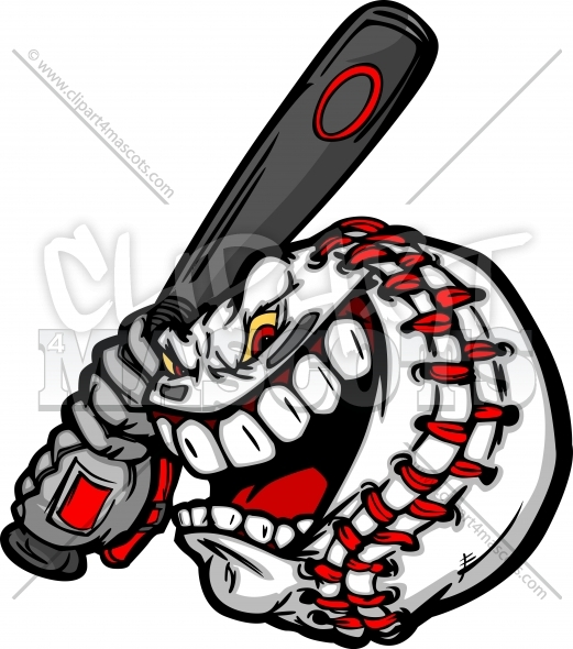 Baseball Cartoon Face Clipart Image