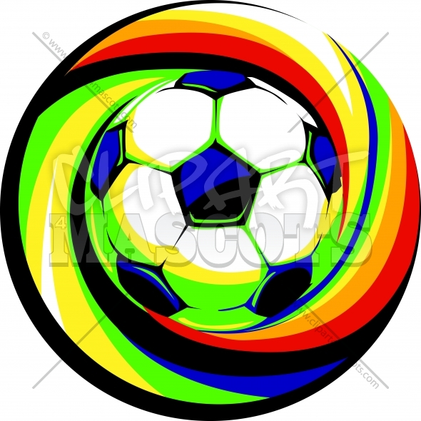 Soccer Design – Logo of a Colorful Soccer Ball