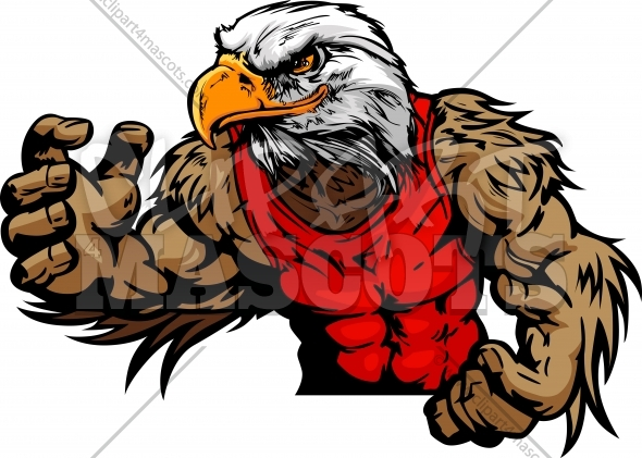 Eagle Wrestling Cartoon Vector Image