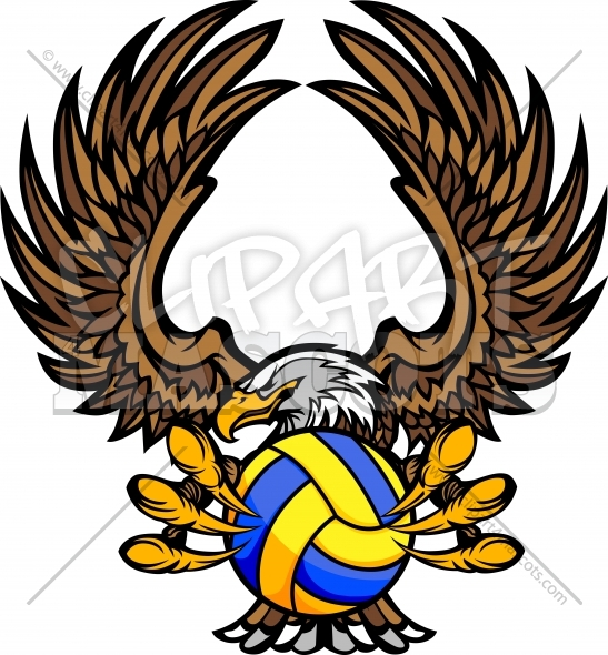Water Polo Eagle with Talons and Claws Vector Clipart