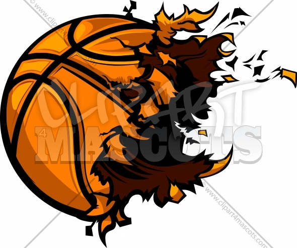 Basketball Explosion Vector Clipart Image