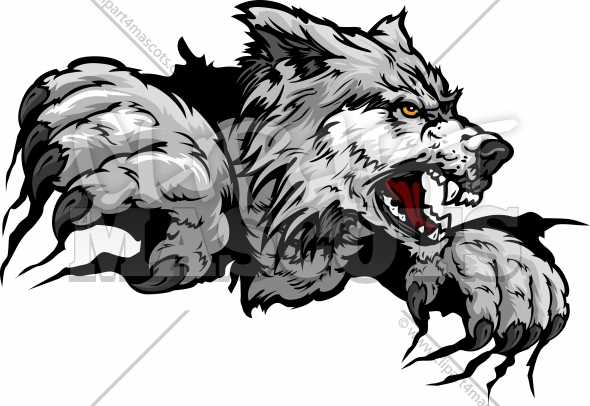 Wolf Claws Graphic Vector Logo